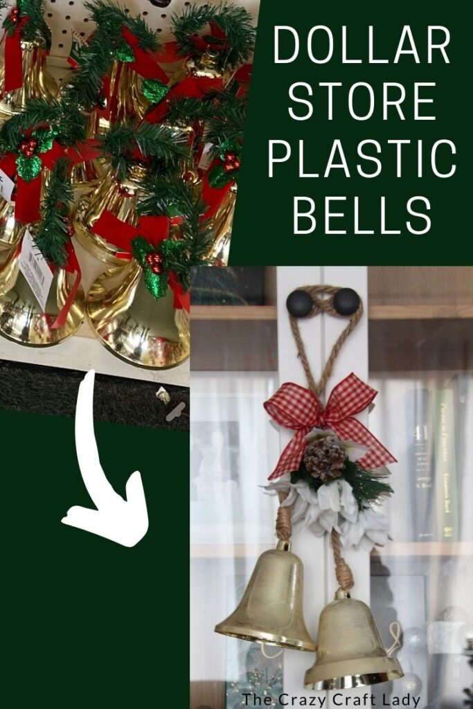 dollar store plastic bells (before and after)