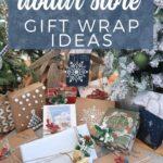 Dollar Store Gift Wrap