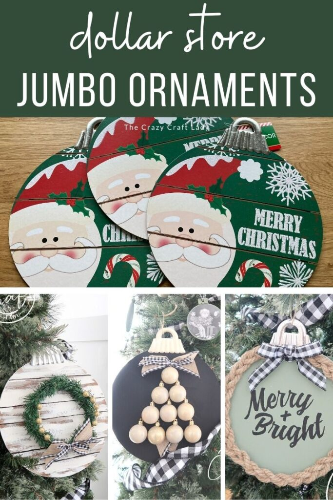 Dollar Store Jumbo Ornaments