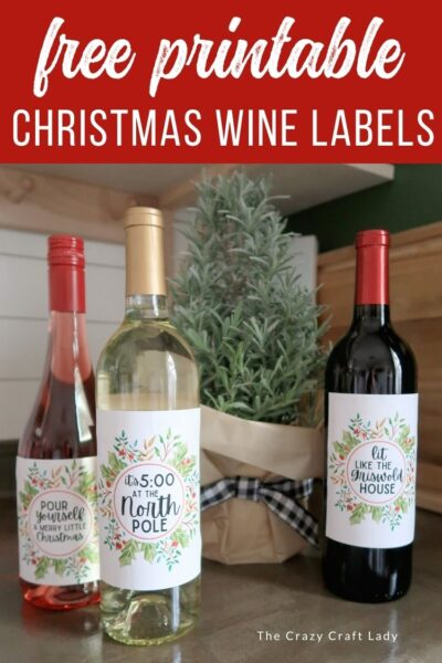Printable Christmas Wine Labels