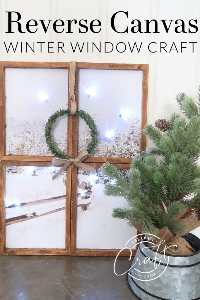 Reverse Canvas Winter Window Craft