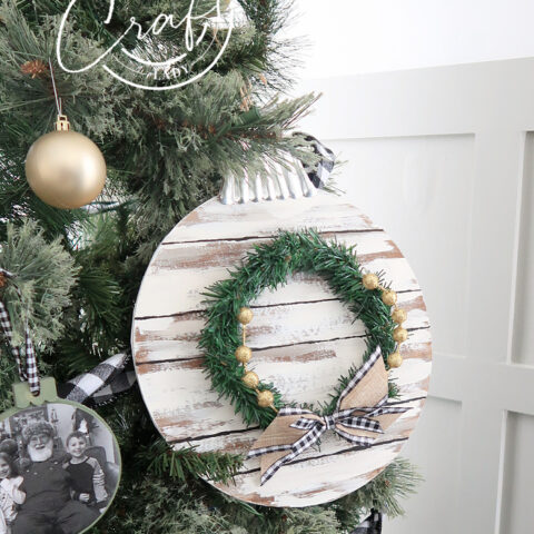 Shiplap Dollar Store Ornament