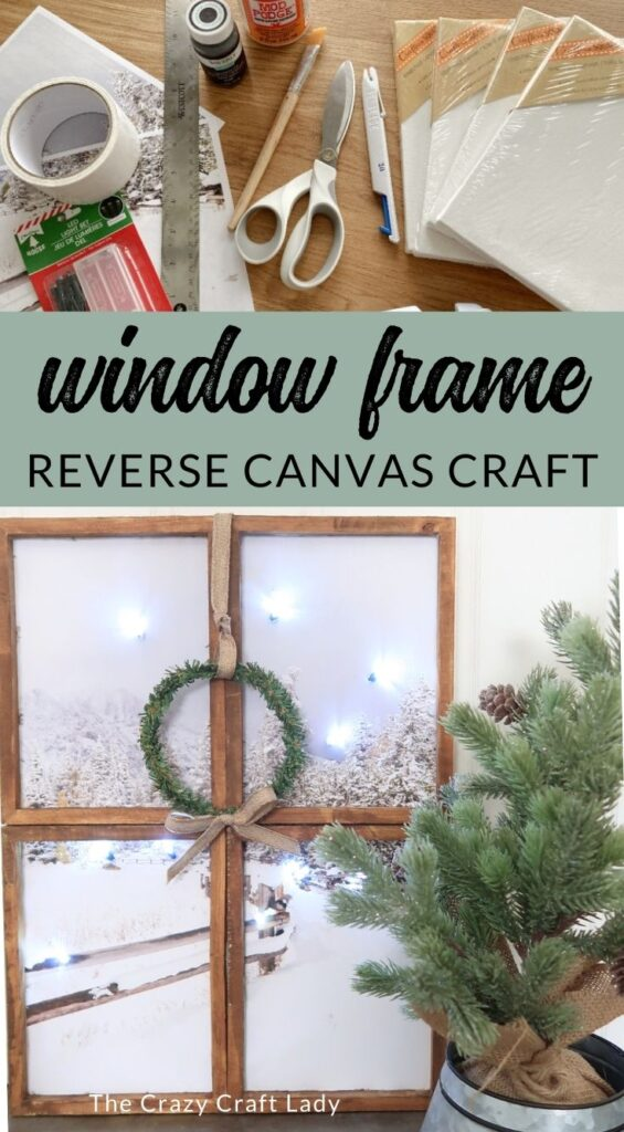 Window Craft Reverse Canvas Craft