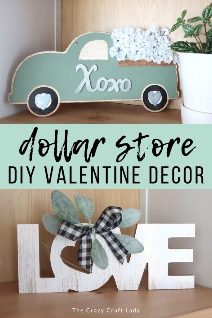 Dollar Store DIY Valentine Decor - Transform Dollar Store Valentine Signs
