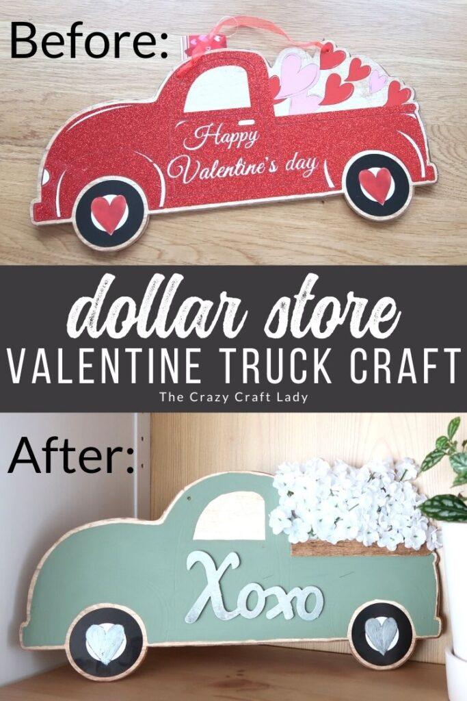 Dollar Store Valentine Truck Craft