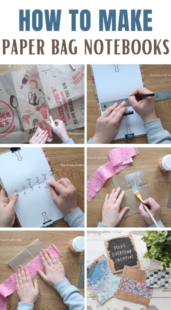 How to make brown paper bag notebooks