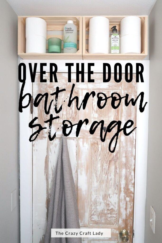 over the door bathroom storage