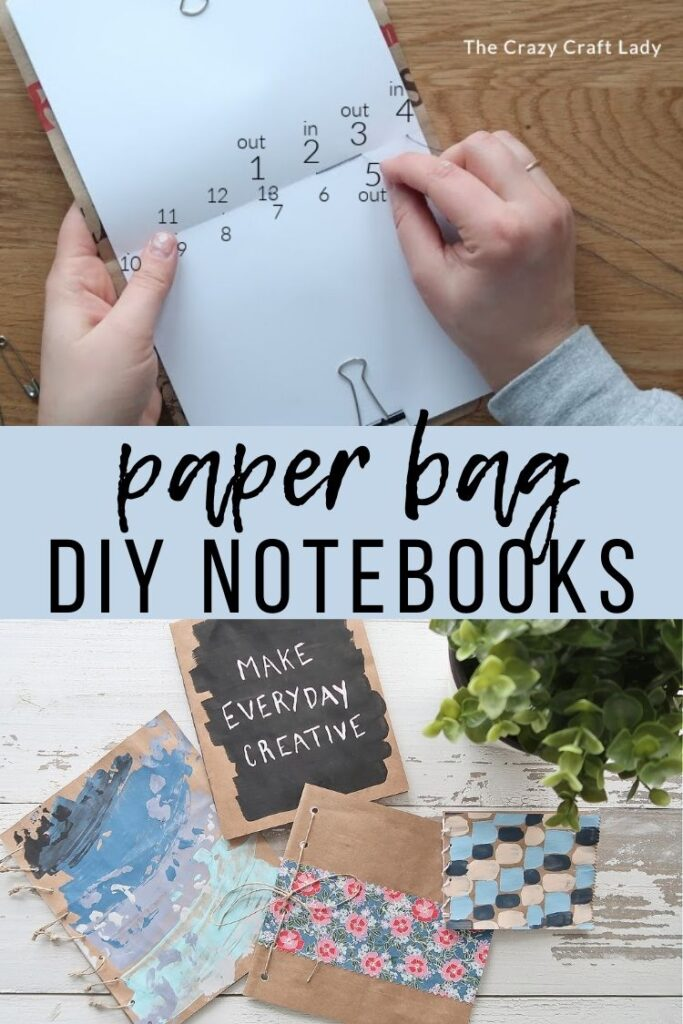 paper bag diy notebooks - upcycle grocery bags