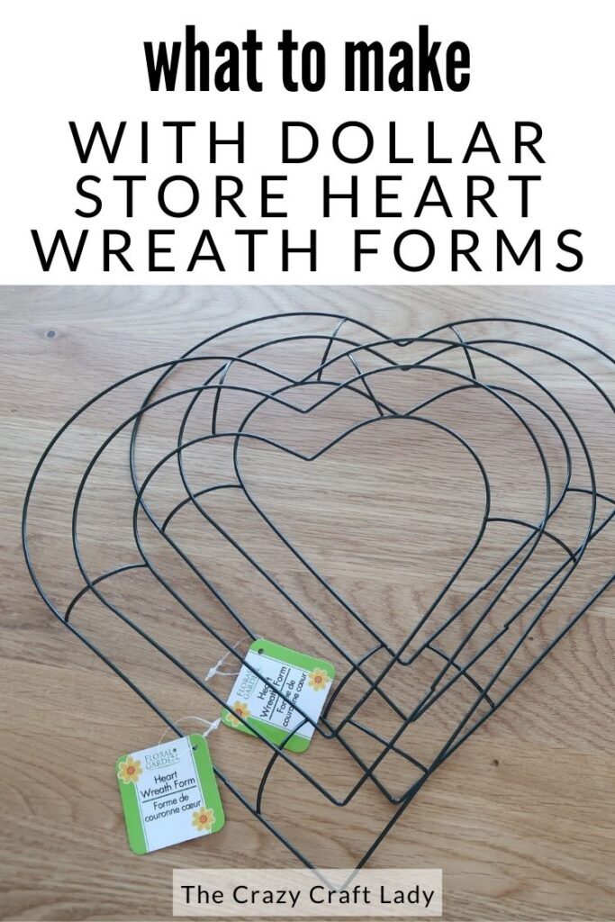 what to make with dollar store heart wreath forms