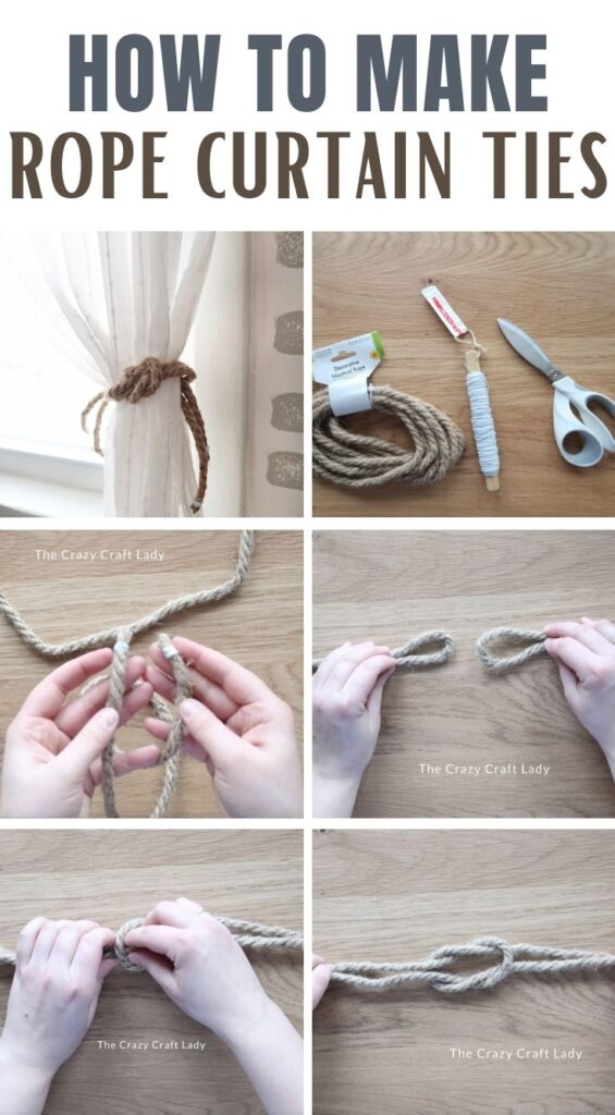 How to Make Rope Curtain Ties