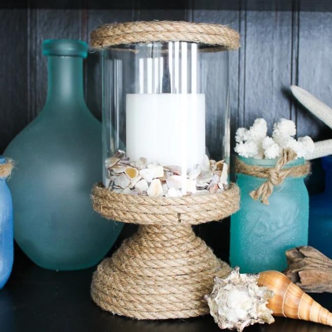 DIY Nautical Vase