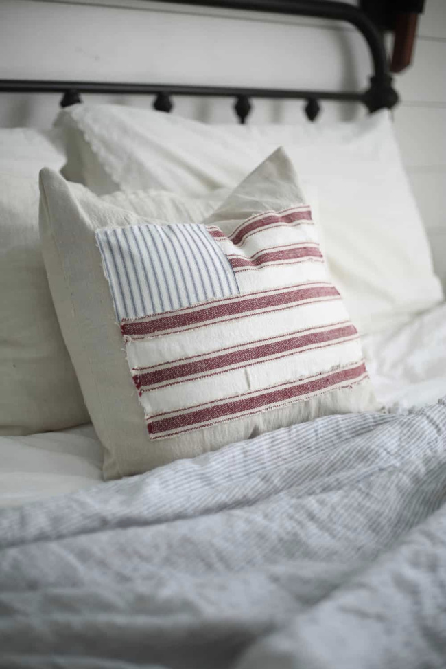 Scrappy Flag Pillow Cover