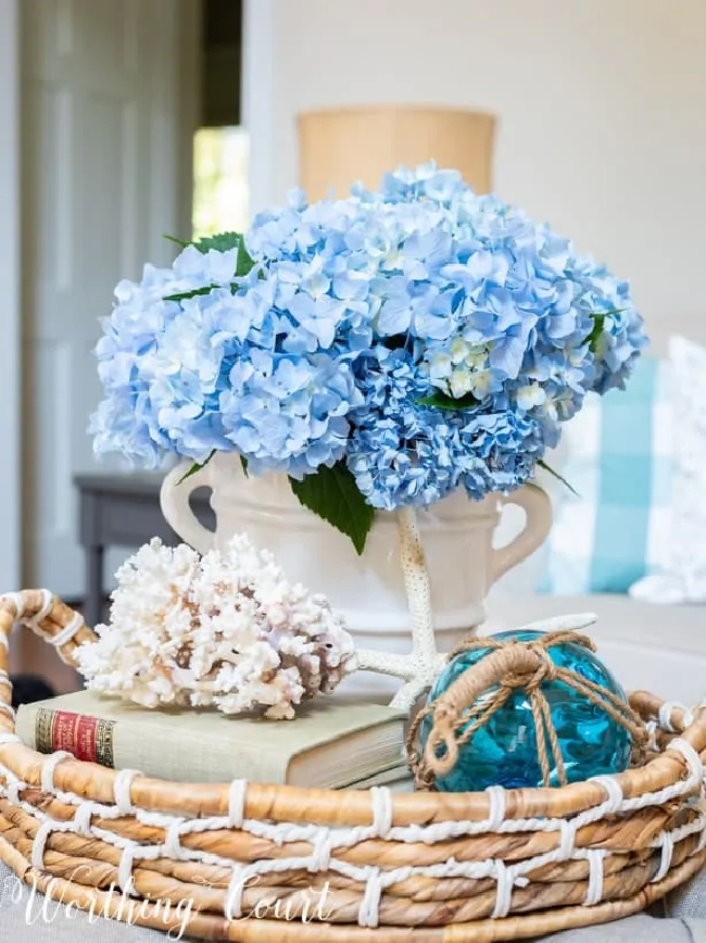 Summer Hydrangea Centerpiece
