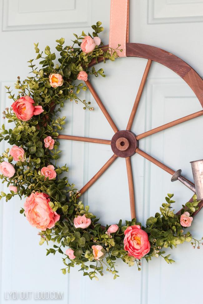 wagon wheel summer wreath