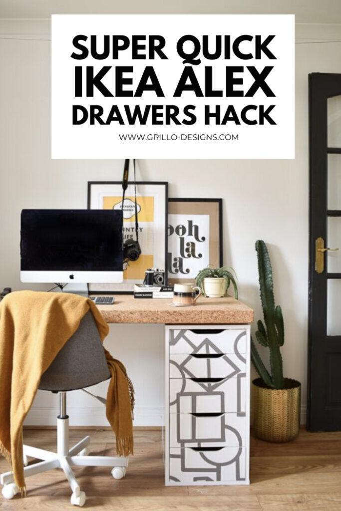 30 Min Ikea Alex Drawers Hack