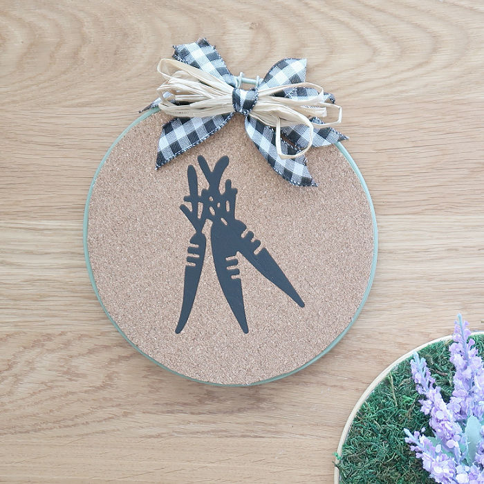 Cork Spring Embroidery Hoop Craft
