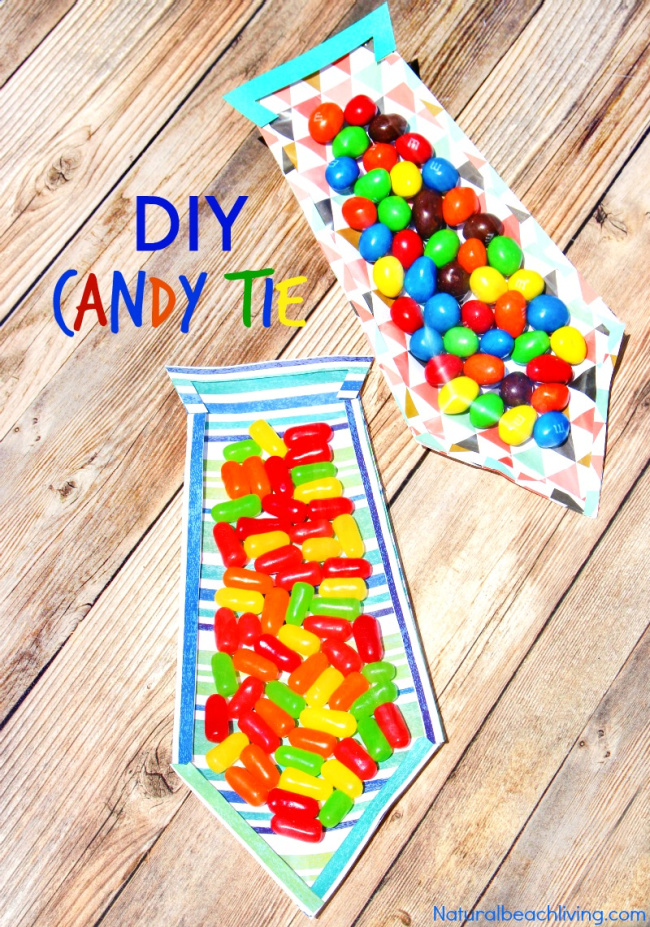DIY Father's Day Candy Tie Card - homemade father's day gifts