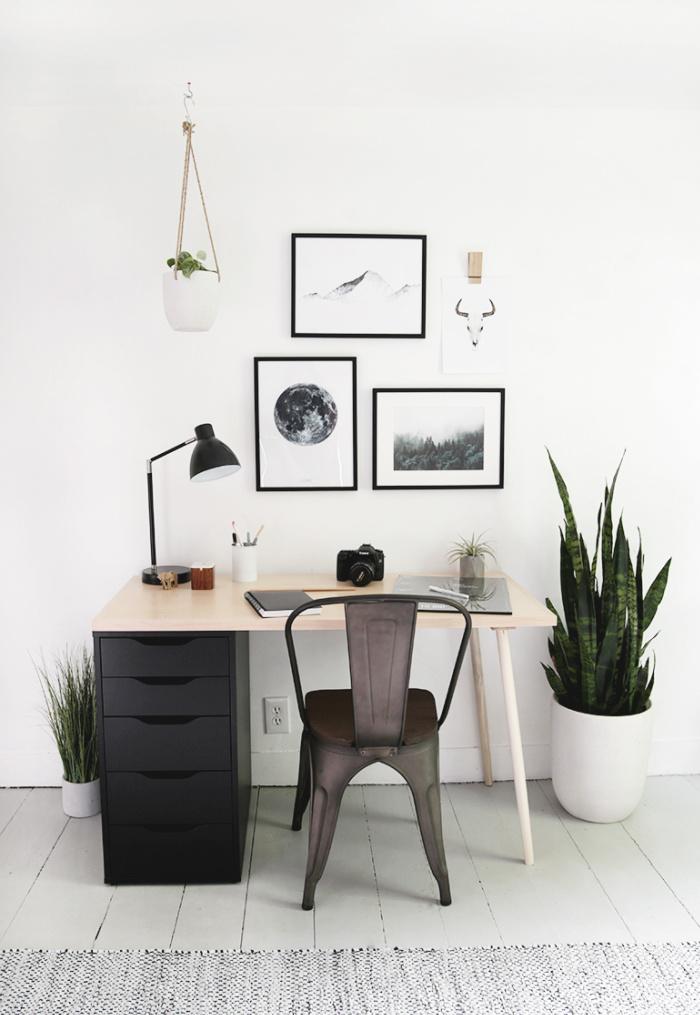 DIY Modern Wood Desk With Drawers