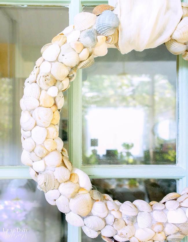 DIY Seashell Beach Wreath Craft