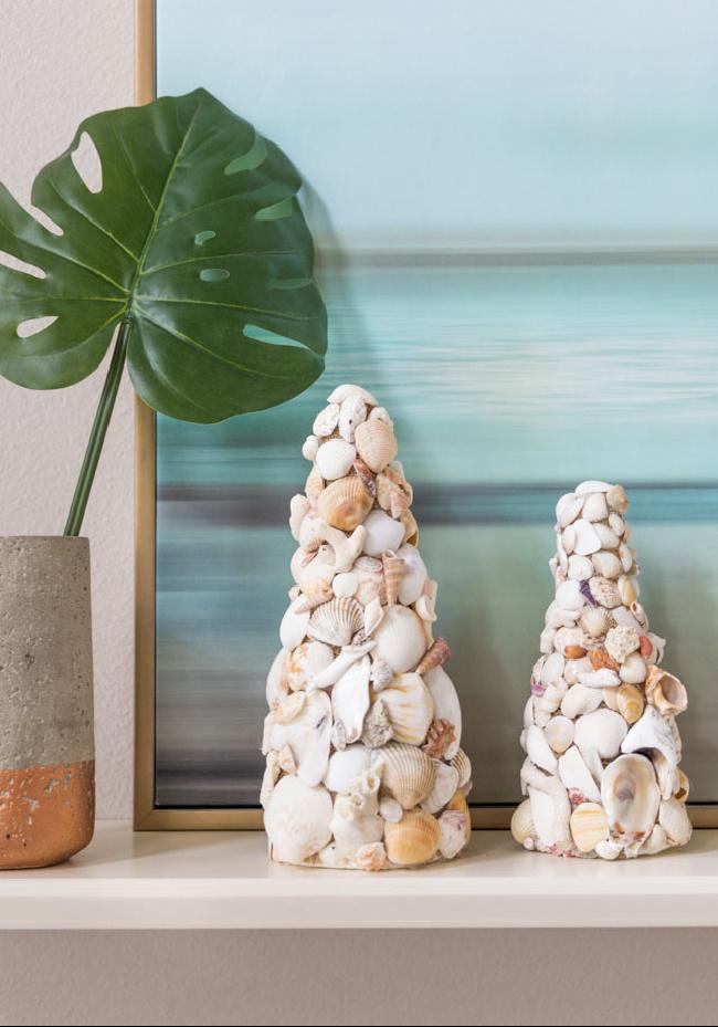 DIY Seashell Décor Cones