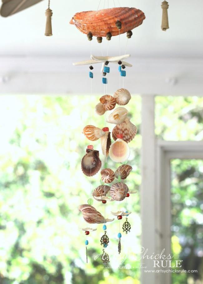 DIY Seashell and Bead Wind Chime