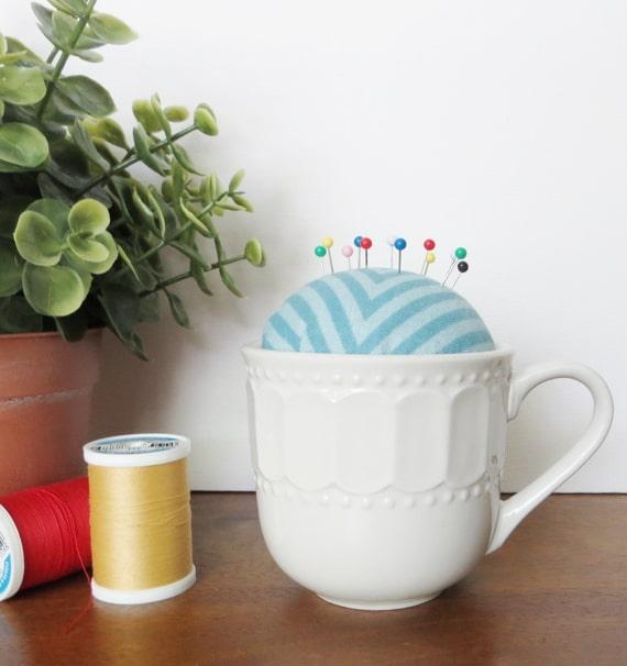DIY Teacup Pin Cushion
