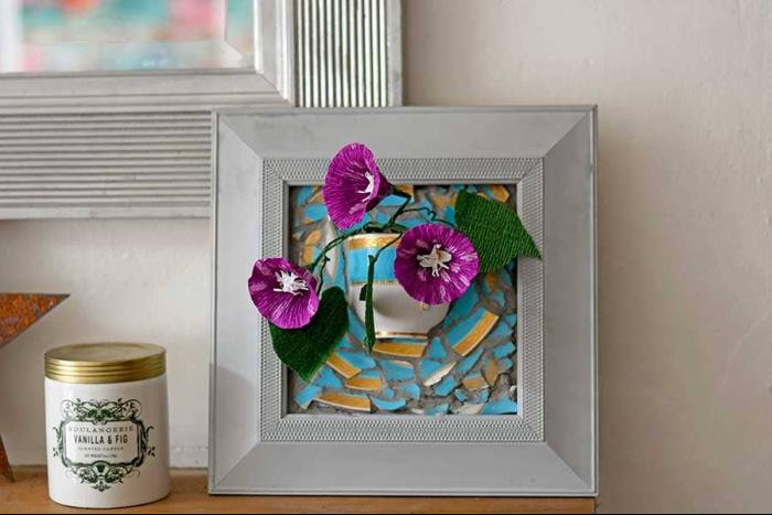 DIY Wall Vase From Repurposed Broken Teacups