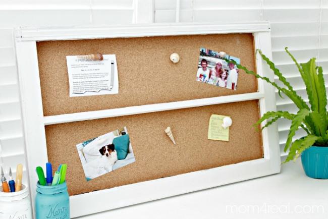 DIY Window Cork Board