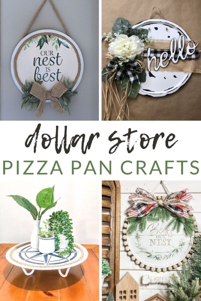 Dollar Store Pizza Pan Crafts
