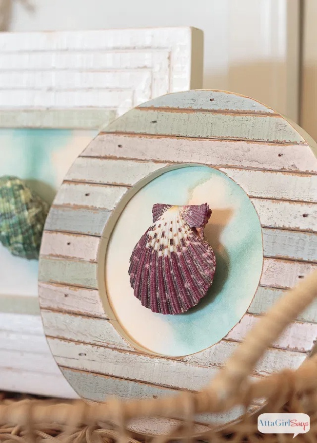 Easy DIY Seashell Artwork