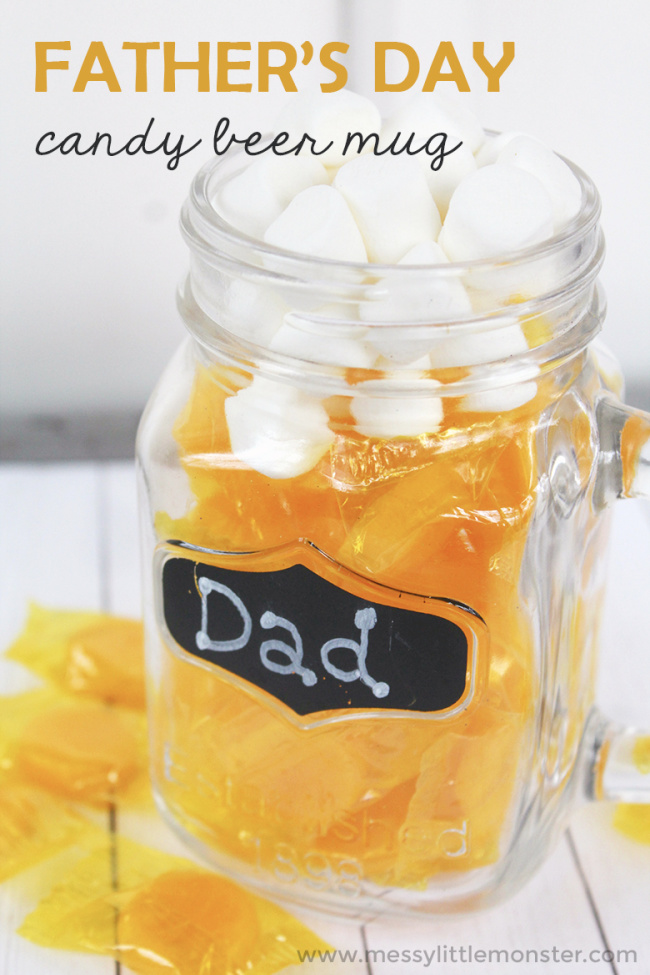 Father's Day Candy Beer Mug Gift