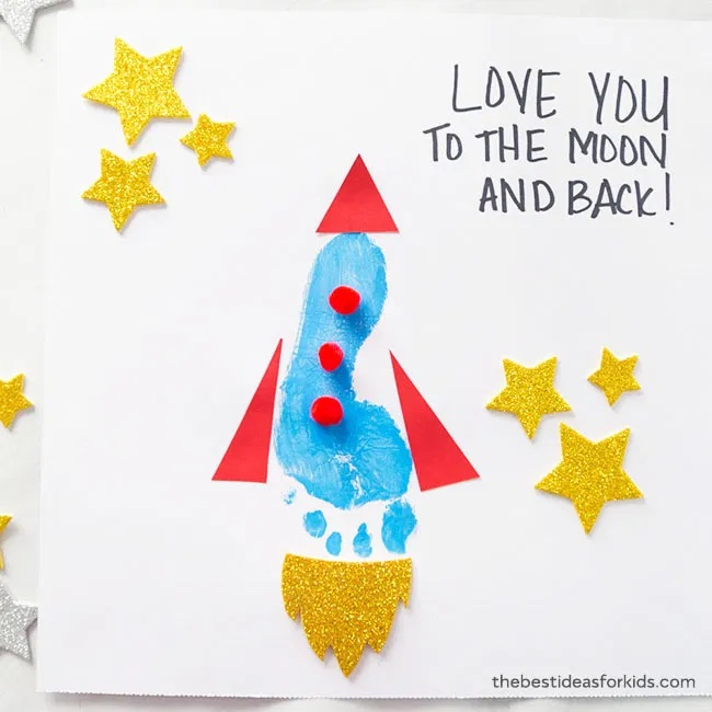 Footprint Rocket Card for Dad