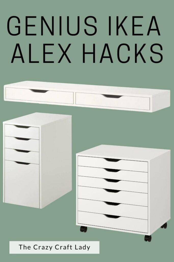 Genius Ikea Alex Drawer Hacks
