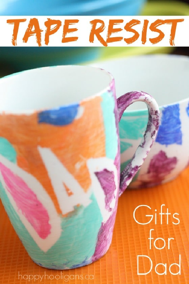 Homemade Painted Mug And Bowl Father's Day Gift