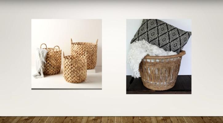 Knock off West Elm storage basket from dollar tree supplies