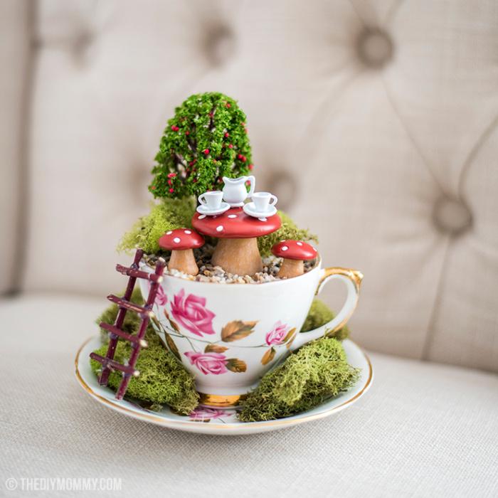 Make A Fairy Garden In A Thrifted Teacup