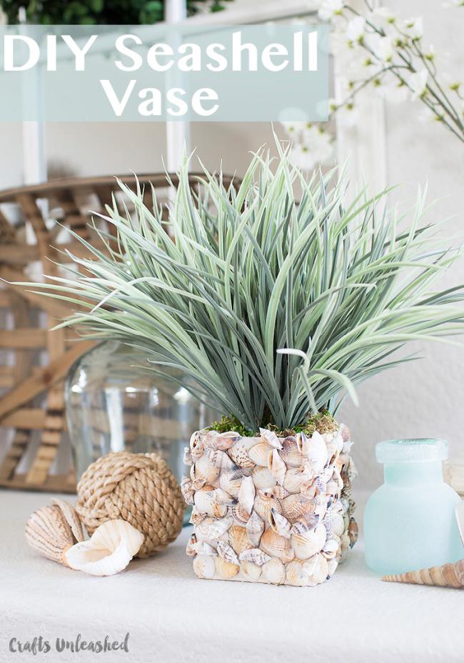Make Your Own Seashell Vase