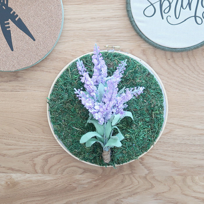 Moss Embroidery Hoop Craft
