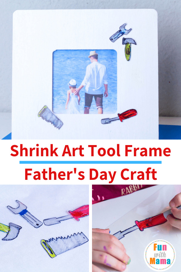 Shrink Art Tool Frame Father's Day Craft