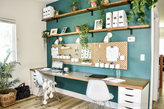 Simple DIY Ikea Desk Hack Tutorial