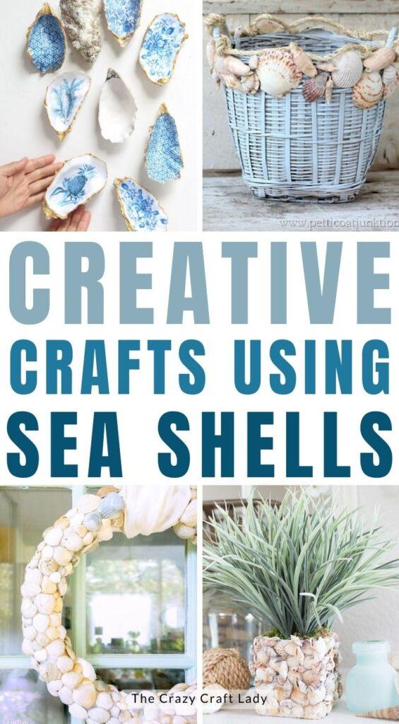 creative crafts using sea shells