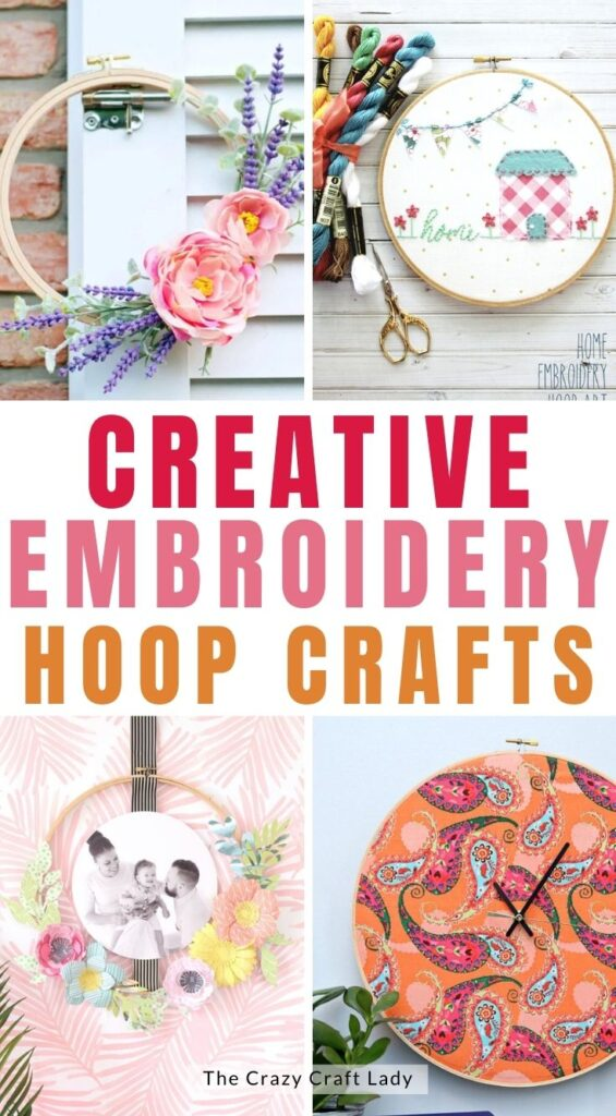 creative embroidery hoop crafts