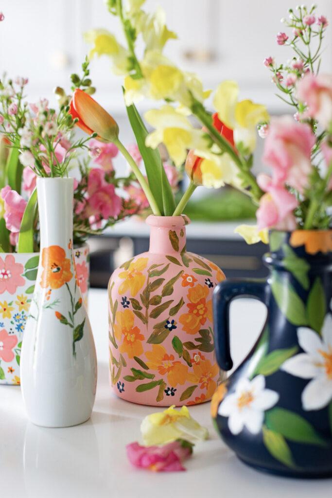 Anthropologie Inspired Illustrated Vases