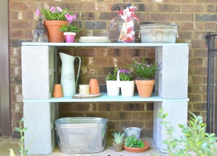 Cinder Block Project - DIY Shelf