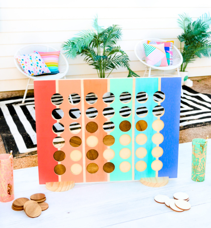 DIY Giant Connect Four Game