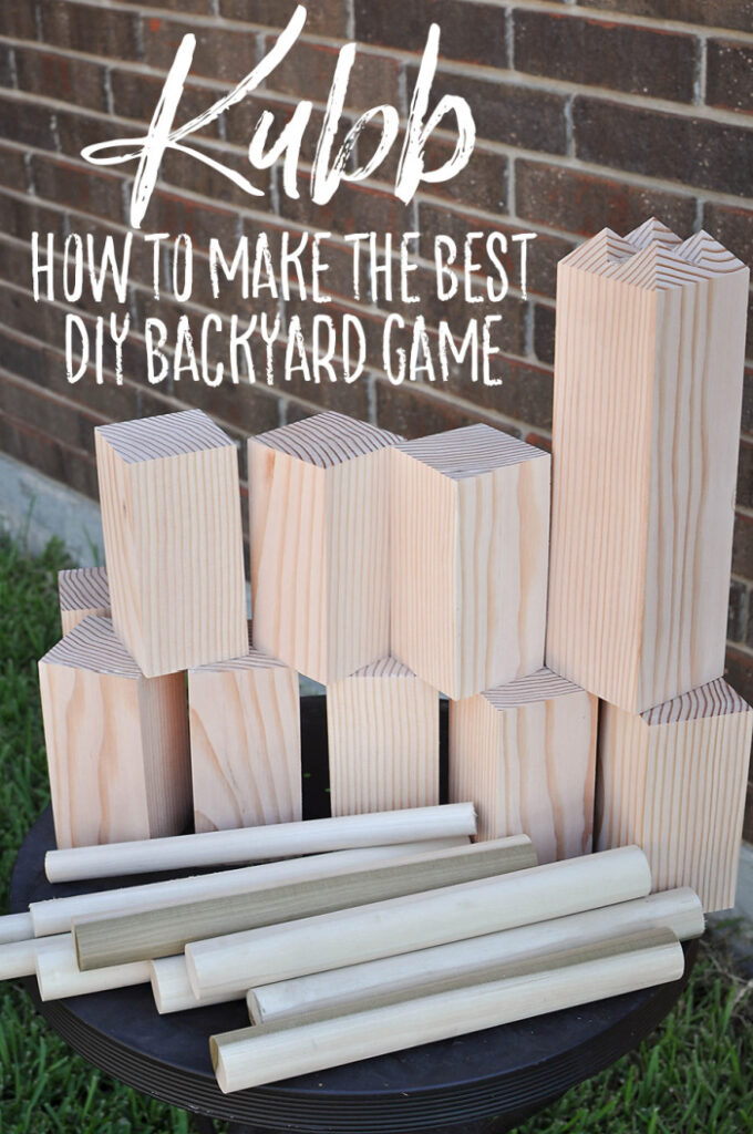DIY Kubb Backyard Game
