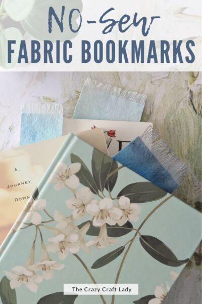 DIY No Sew Fabric Bookmarks