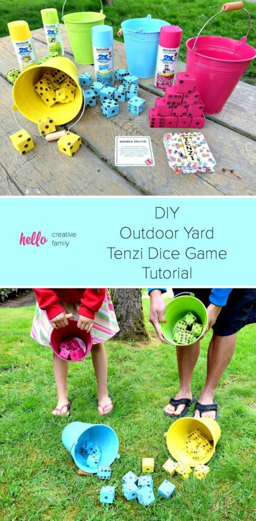 DIY Tenzi Outdoor Yard Dice Game