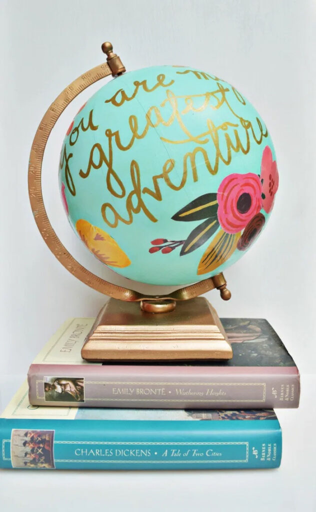 Floral Quote Globe Anthropologie Hack