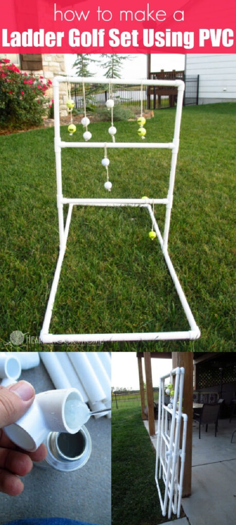 How To Make An Easy Ladder Golf Set Using PVC
